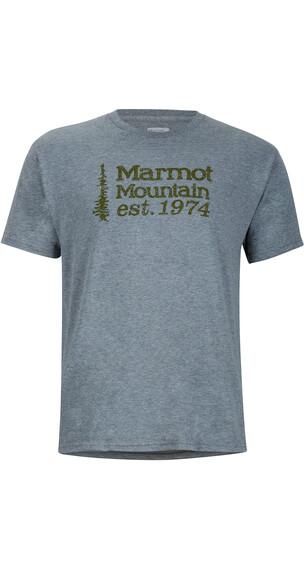 Marmot 74 Tee SS Men Ash Heather